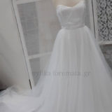 Bridal dress strapless tulle and pearls